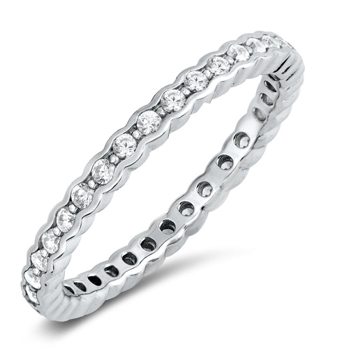 925 Sterling Silver CZ Eternity Ring - 2.5mm