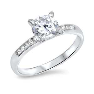 925 Sterling Silver Engagement Ring - Solitaire