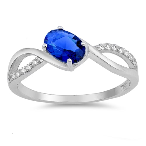 925 Sterling Silver Ring With Oval CZ Or Opal.