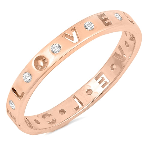 925 Sterling Silver LOVE Rings - Stackable