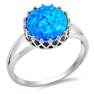 925 Sterling Silver Opal Ring