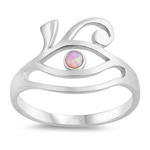 925 Sterling Silver All-Seeing-Eyes With Opal