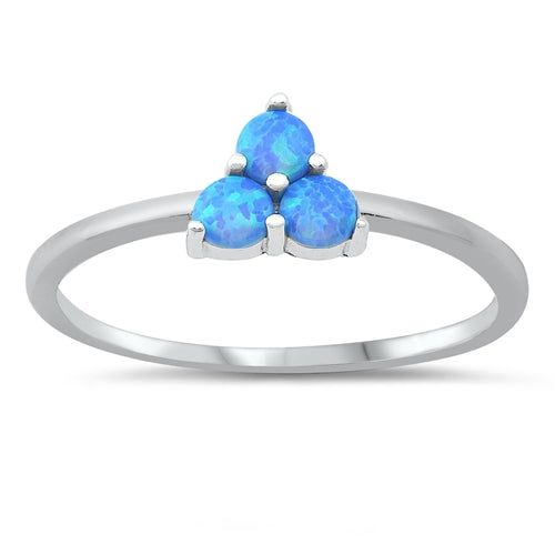 925 Sterling Silver Ring With 3 Opals