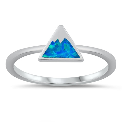 925 Sterling Silver Mountain Ring With Opal Inlay