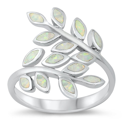 925 Sterling Silver Maile Leaves Ring - 22mm