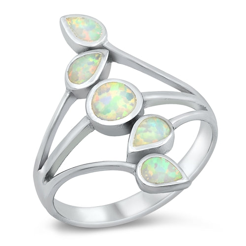 925 Sterling Silver Wide Opal Ring - 27mm