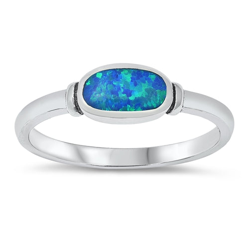 925 Sterling Silver Ring With Opal