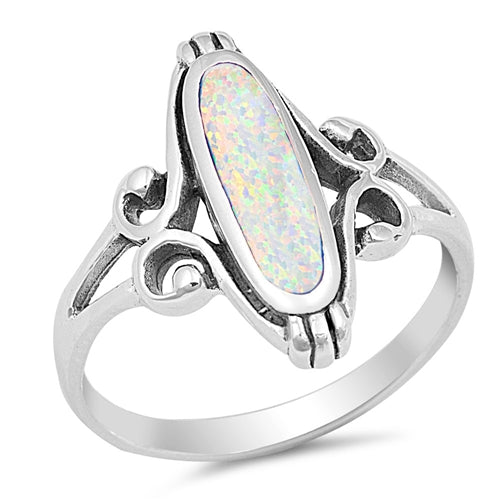 925 Sterling Silver Ring With Opal, Onyx, Turquoise or Abalone Shell