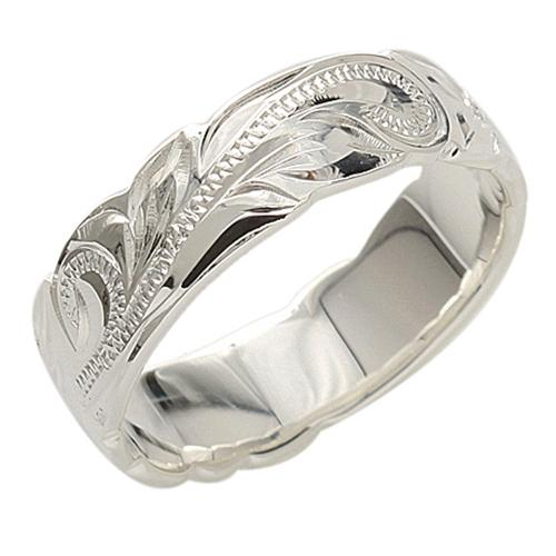 925 Sterling Silver Hawaiian Heirloom Ring - 6mm to 10mm Width