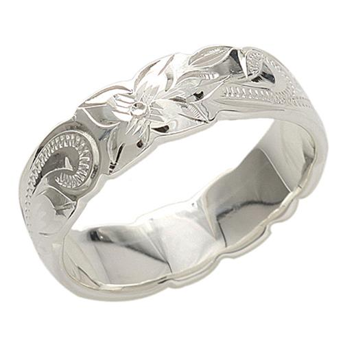 925 Sterling Silver Hawaiian Heirloom Ring - 8mm Width