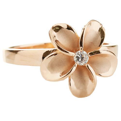 925 Sterling Silver Plumeria Ring - 15MM Flower