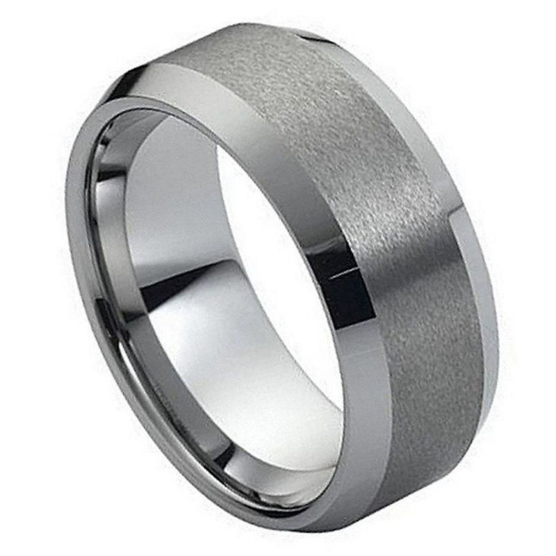 Scratch Free Tungsten Carbide Ring - 4mm, 6mm, 8mm or 10mm Width