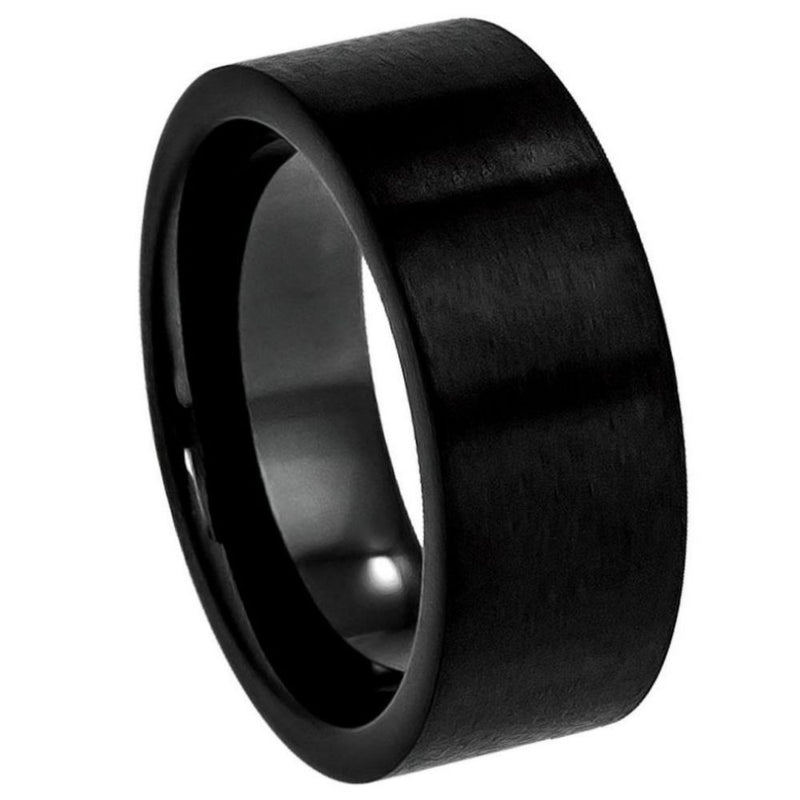 Scratch Free Tungsten Carbide Rings - 9mm Black Rhodium Plated
