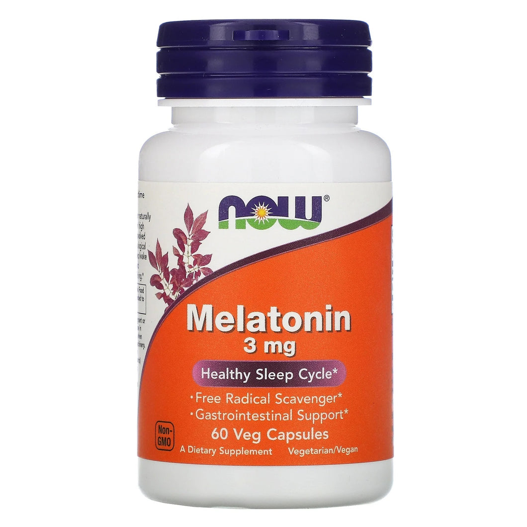 NOW Foods Melatonin 3mg [60 Veg Caps]