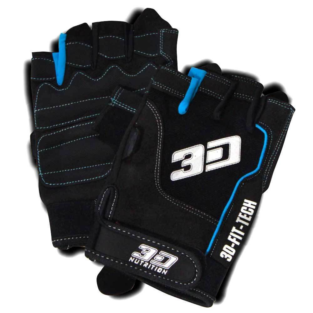Gloves 3D Nutrition Essential Lifting Gloves [Black] - Chrome Supplements and Accessories