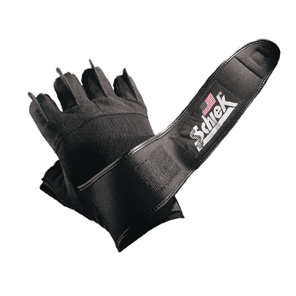 Gloves Schiek Platinum Lifting Gloves [Black] - Chrome Supplements and Accessories