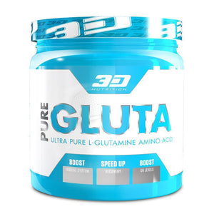 Glutamine 3D Nutrition Pure Gluta [300g] - Chrome Supplements and Accessories