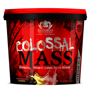 Mass Gainer Barbarian Nutrition Colossal Mass [4.2kg] - Chrome Supplements and Accessories