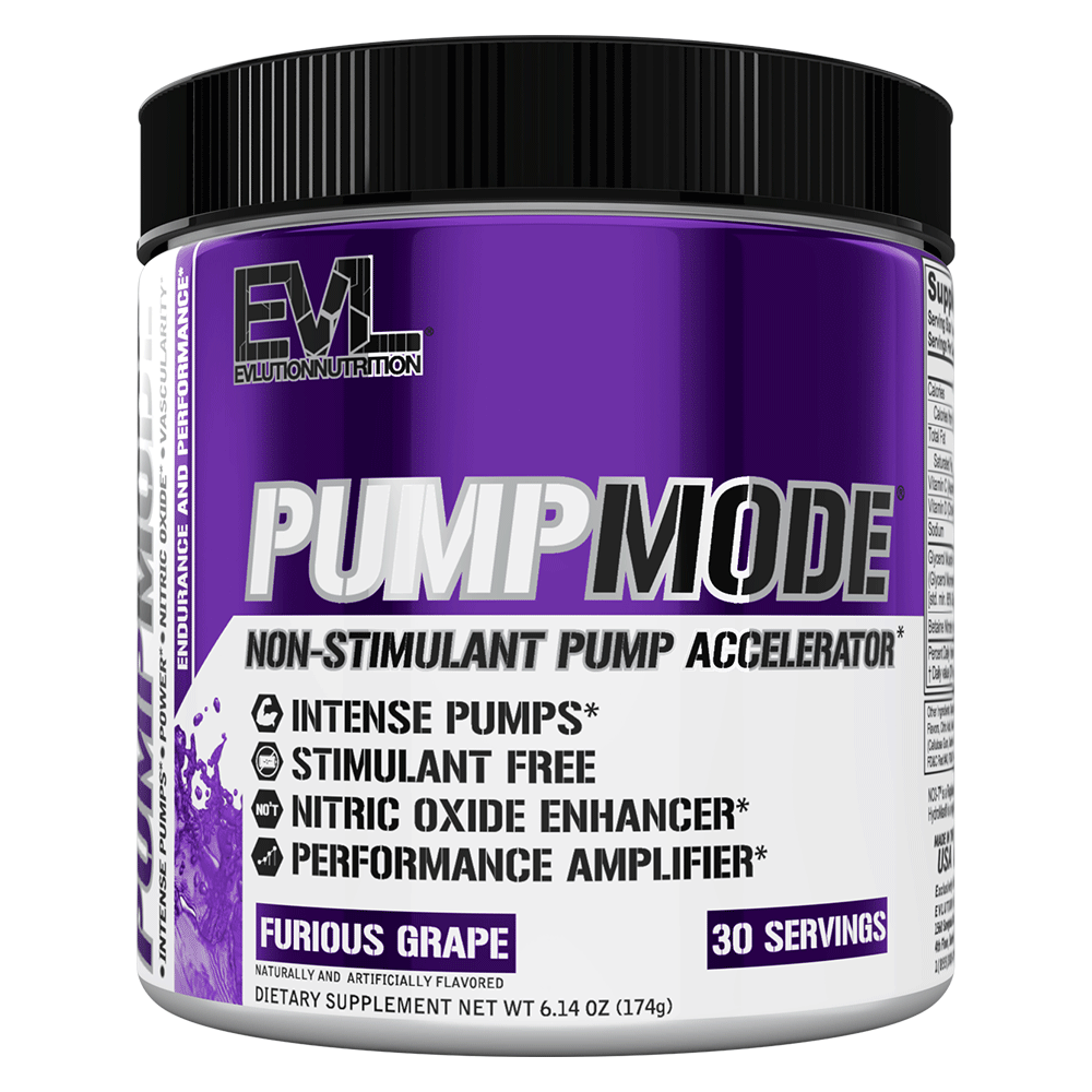 Nitric Oxide Booster EVLution Nutrition PumpMode [165g] - Chrome Supplements and Accessories