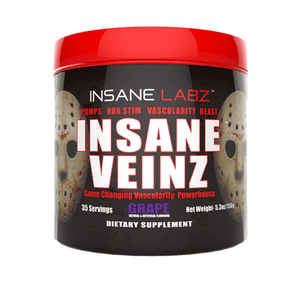 Nitric Oxide Booster Insane Labz Insane Veinz [145g] - Chrome Supplements and Accessories