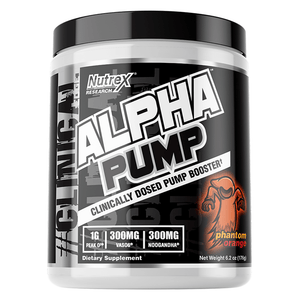 Nitric Oxide Booster Nutrex Alpha Pump [175g] - Chrome Supplements and Accessories