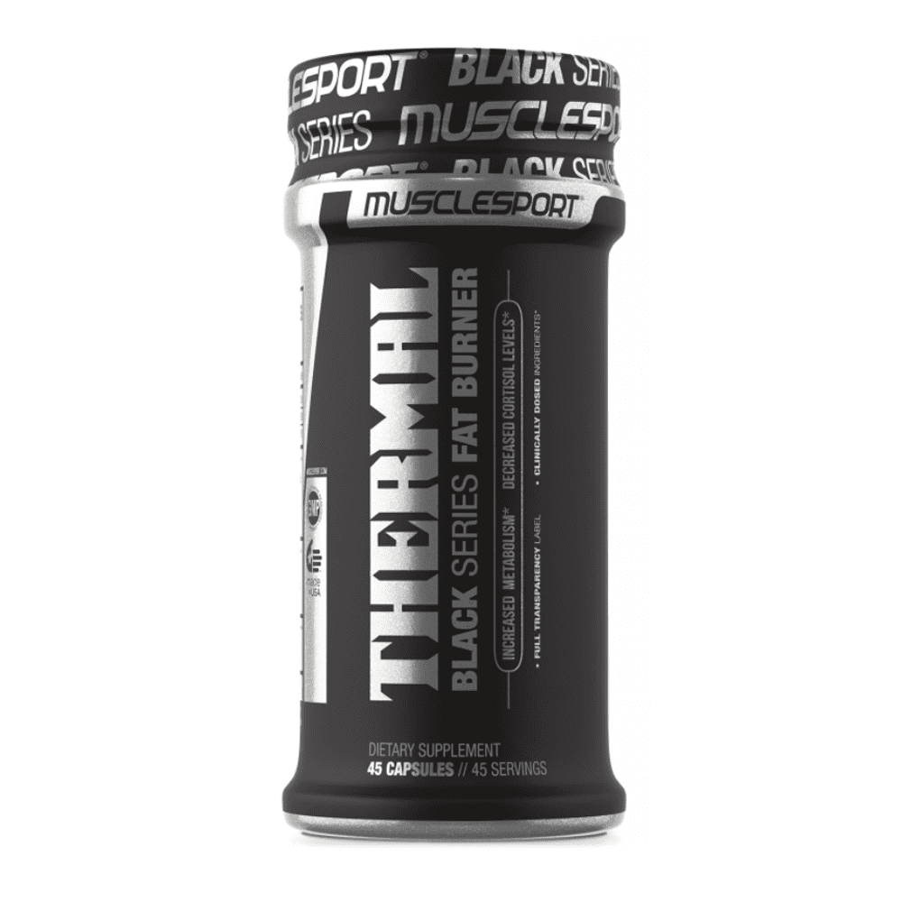 Stimulant Based Fat Burner MuscleSport Black Thermal [45 Caps] - Chrome Supplements and Accessories