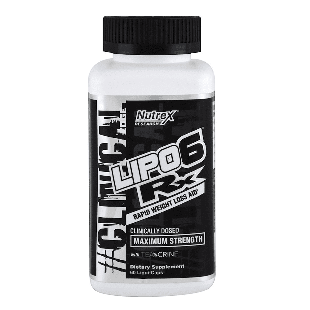 Stimulant Based Fat Burner Nutrex Lipo 6 RX [60 Caps] - Chrome Supplements and Accessories