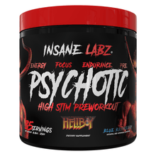 Load image into Gallery viewer, Stimulant Based Pre-Workout Insane Labz Psychotic Hellboy [245g]