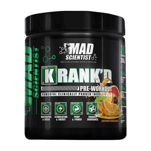 Stimulant Based Pre-Workout Mad Scientist Krank'd [280g]