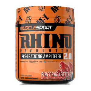 Stimulant Based Pre-Workout MuscleSport Rhino 2.0 [150g] - Chrome Supplements and Accessories