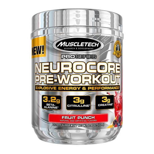 Stimulant Based Pre-Workout MuscleTech Neurocore [220g] - Chrome Supplements and Accessories