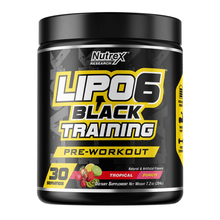 Load image into Gallery viewer, Stimulant Based Pre-Workout Nutrex Lipo 6 Black Training  [200g]