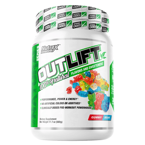 Stimulant Based Pre Workout Nutrex Outlift Natural [502g] - Chrome Supplements and Accessories