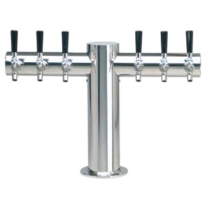 1162 Metropolis, Stainless Steel Tee Tower, 6 Products - 1162