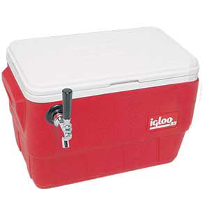 1542 48 Qt. Red 1P Jockey Box, 10x15cp box 26x16x16