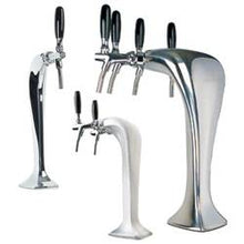 3324 Frosted Ice Cobra - Ice Frosted Tower - Glycol Cooled - 3 Faucet - 3323