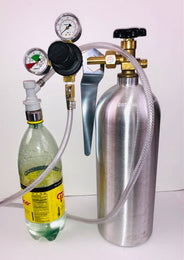 Soda Carbonating Kit with FILLED CO2 Tank