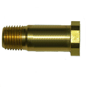 6014 Brass CGA-320 CO2 Stem - Right Hand 1/4 MPT - 6014