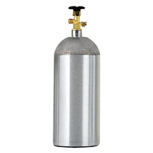 6102 5 pound Al CO2 Cylinder - Empty - 6102