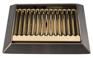 9in Bevel Edge S/S PVD Brass Drip Tray - 8819