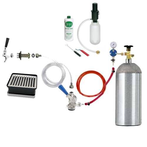 9815 Deluxe Refrigerator Conversion Kit with a 5 pound CO2 Cylinder - 9815