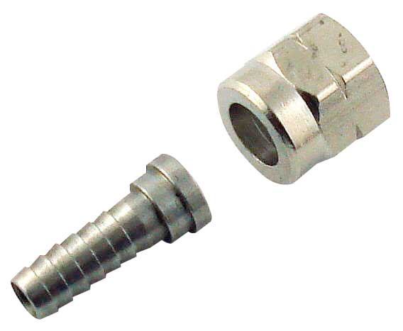 SS 3/8 FFL to 1/4 tube Swivel Nut Assembly - 9924