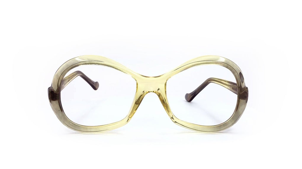 italian designer sun glasses round eye