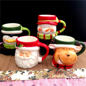 Open image in slideshow, 4 style Christmas gift ceramic cup