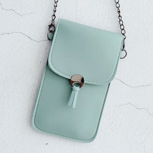 Open image in slideshow, Leather Phone Bag For Touch Screen