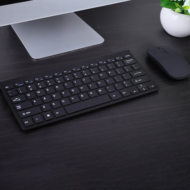 Wireless keyboard and mouse can be charged