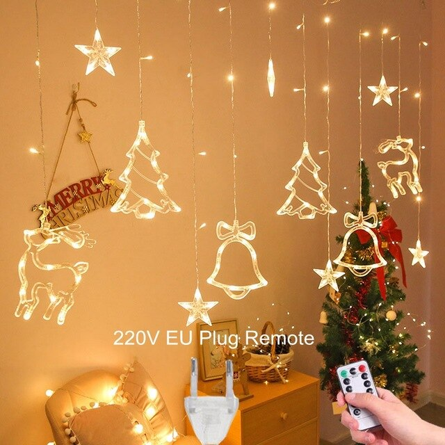 LED Christmas tree ornament new year decor