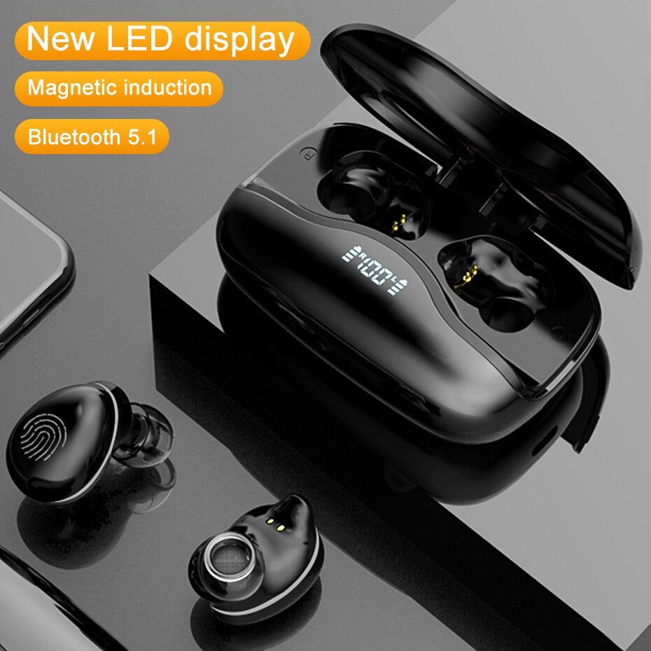 Led Display Bluetooth Wireless Headset