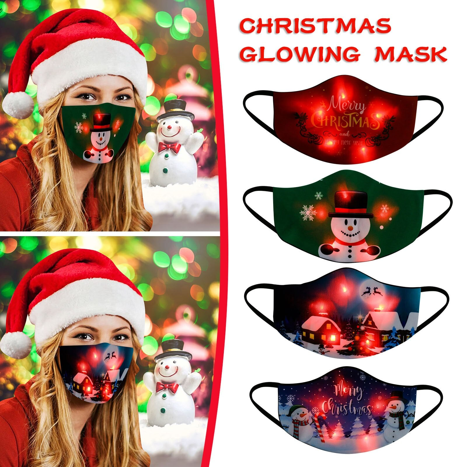 LED christmas mask