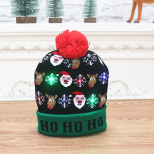 Open image in slideshow, New Year LED Knitted Christmas Hat